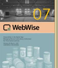 Cover of WebWise 2007 Conference Proceedings