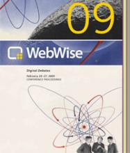 Cover of WebWise 2009 Conference Proceedings