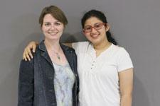 Lauren Cage (L) and Mallika Yeleswarapu (R)